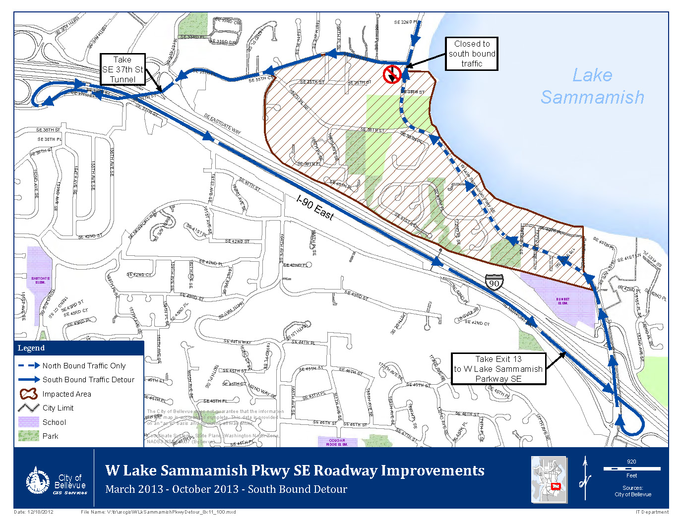 Radar Signs Installed Ahead of March 19 West Lake Sammamish Parkway ...