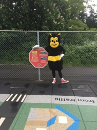 Pedbee is excited for Walk-To-School Day!